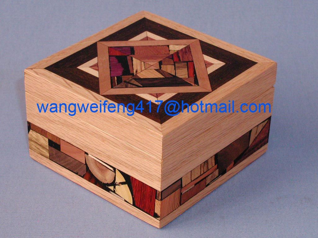 Simple design wooden gift box for jewerly