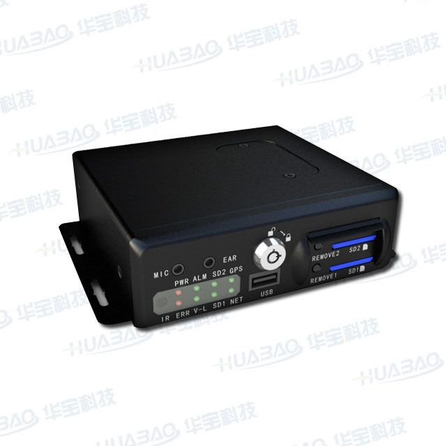 4CH Video and Audio SD Card Mobile DVR with GPS, 3G WiFi