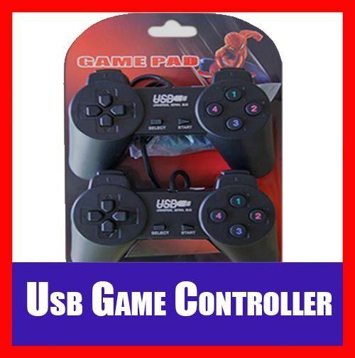 2x (Two pieces) USB PC Computer Laptop Set Vibration Gamepad Controller Gaming Pad Joystick