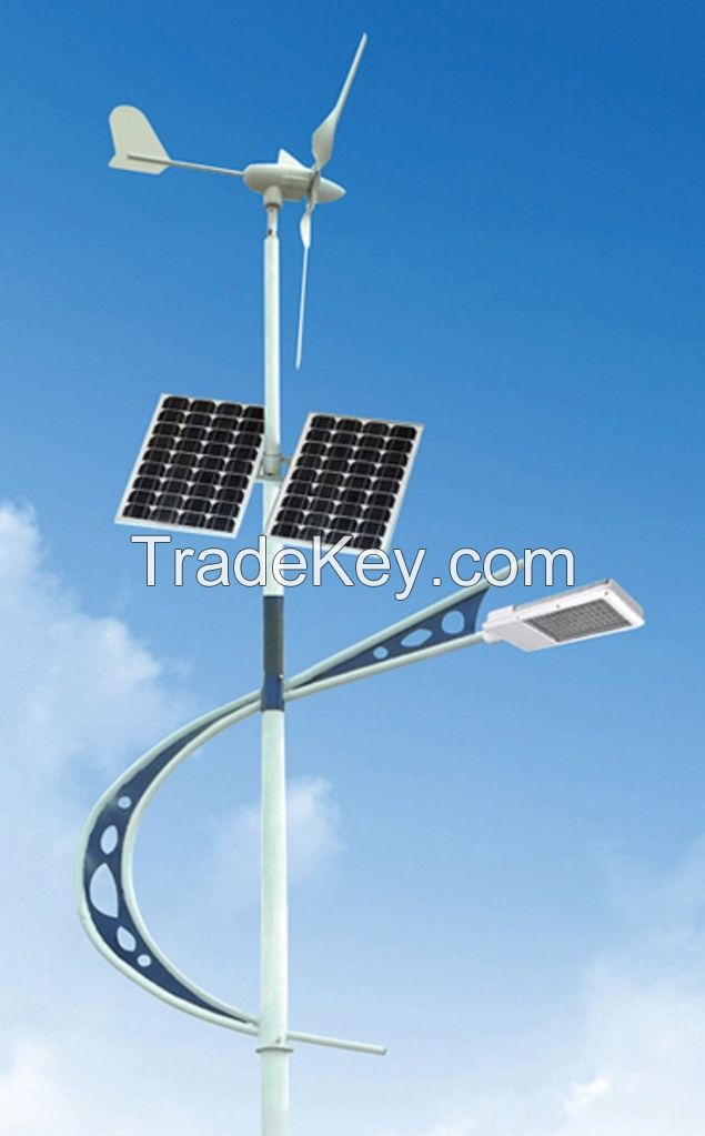 Wind and Solar power street lamp
