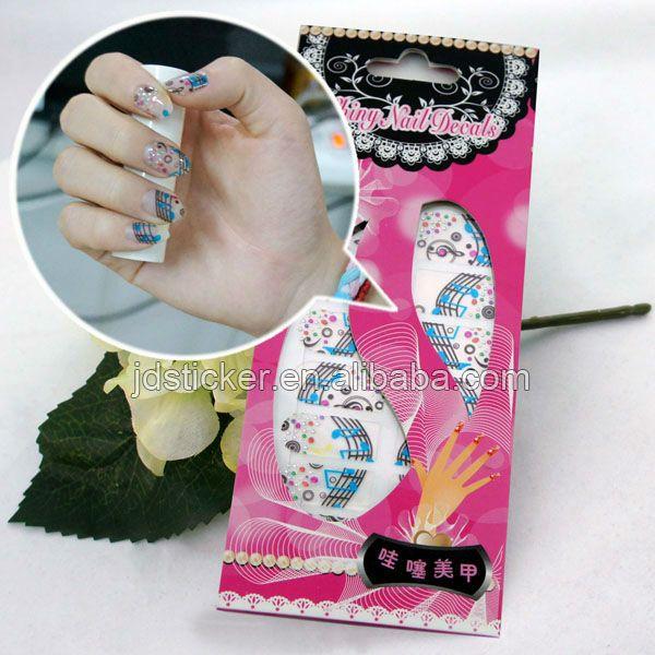 Printing nail art stickers, made nail wraps
