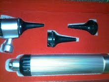e.n.t set, and otto scope, syrings,  hammers, mini otto scope