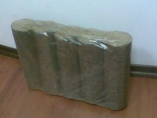 Wood Briquettes. Oak-tree