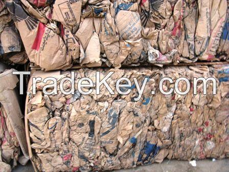 Kraft paper wastes in bales