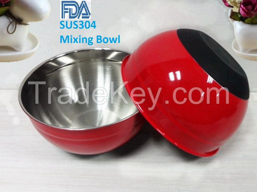 stainless steel mixing bowl,salad bowl