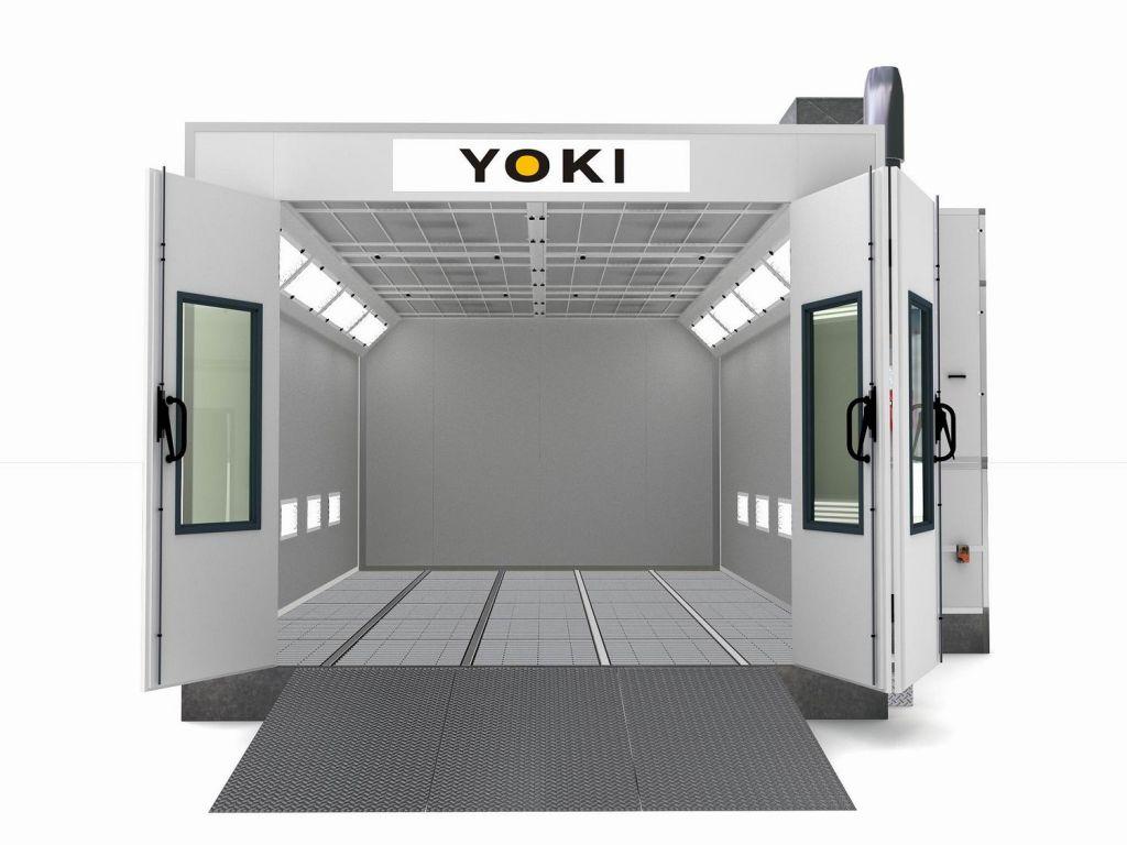 YK-360 CE Spray Paint Baking Booth(gas burner)