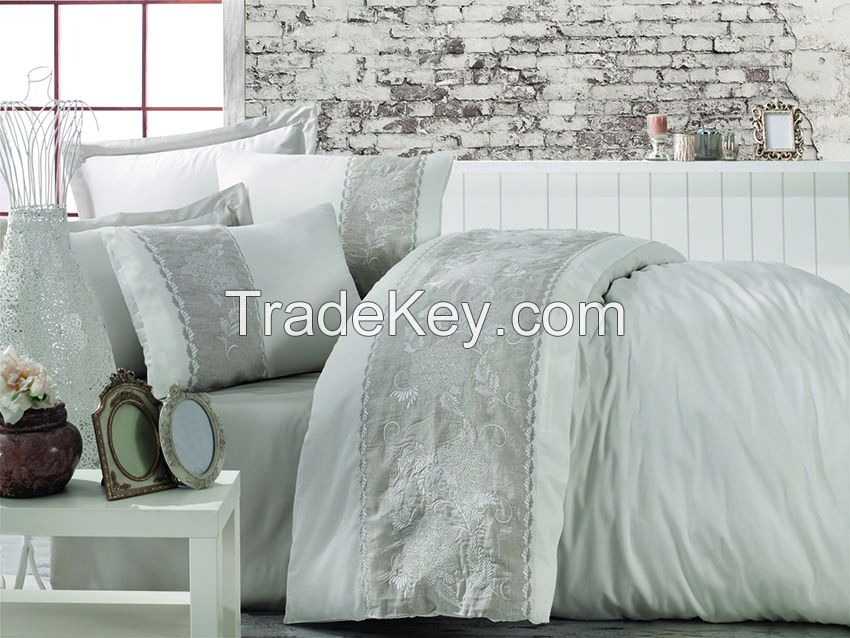 Cotton Satin King Size Duvet Cover Set - Akel