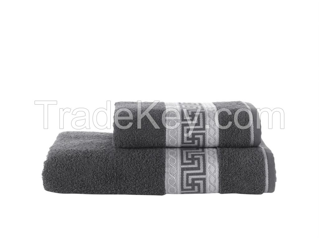 Cotton Bath 2 Pieces Towel Set