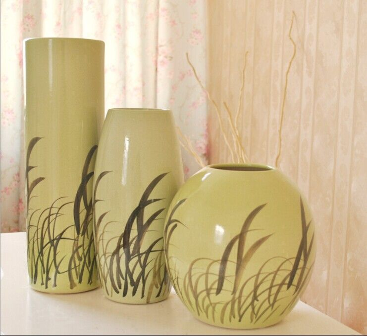ceramic classcial home decoration big vase three set