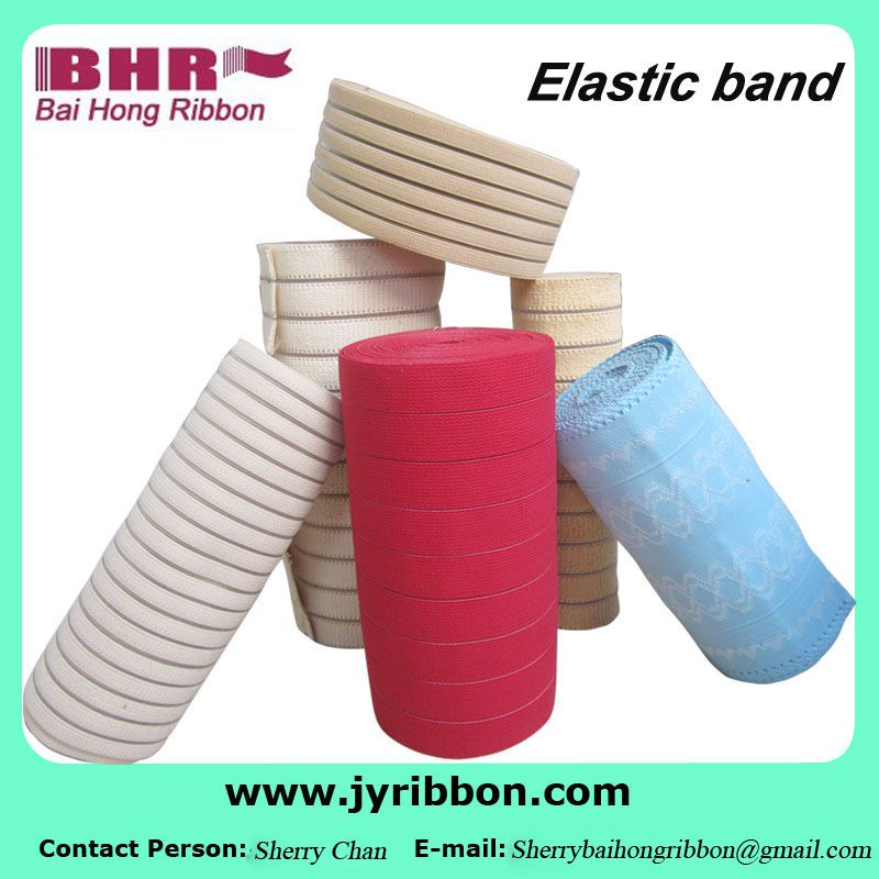 Durable soft plain elastic webbing