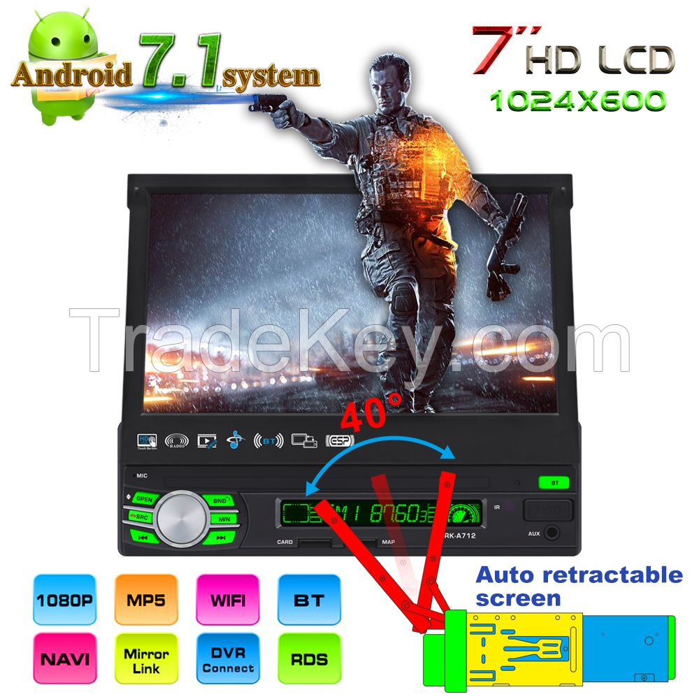 7inch Single DIN Android Car MP5 Player+GPS navigation