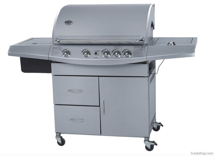5 burner luxury stainless steel gas bbq grill