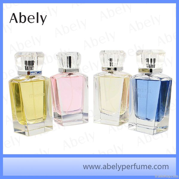 75ml crystal perfume bottle, empty perfume bottle, glass bottle