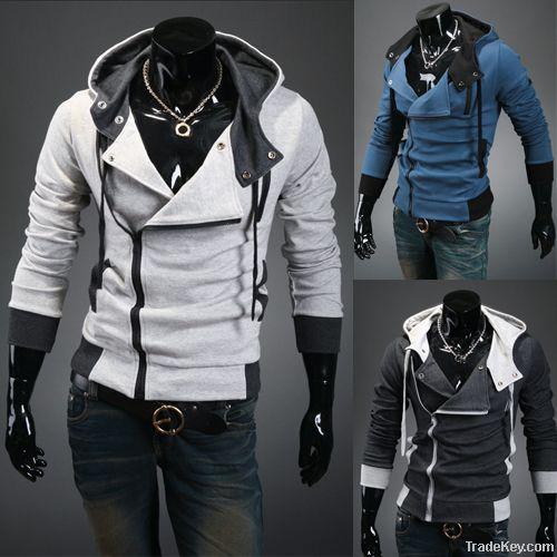 Men hooded cardigan cultivate one's morality men's fleece coat
