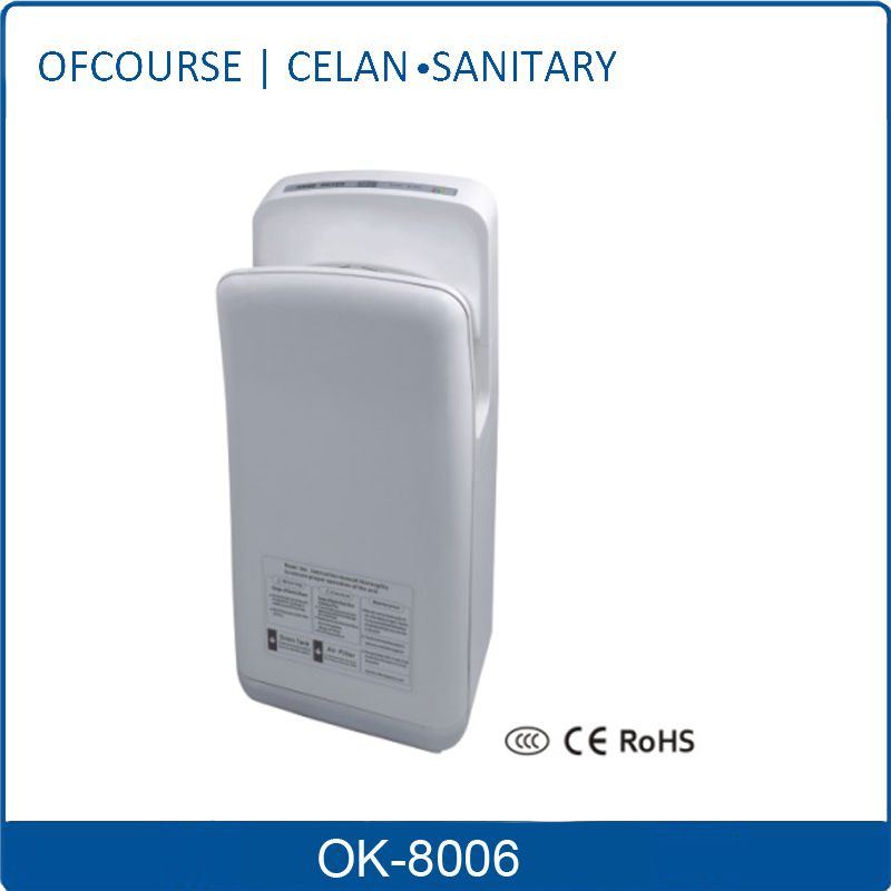 2014 New Quality Product Manufacture Automatic Jet Air Hands Free Hand Dryer