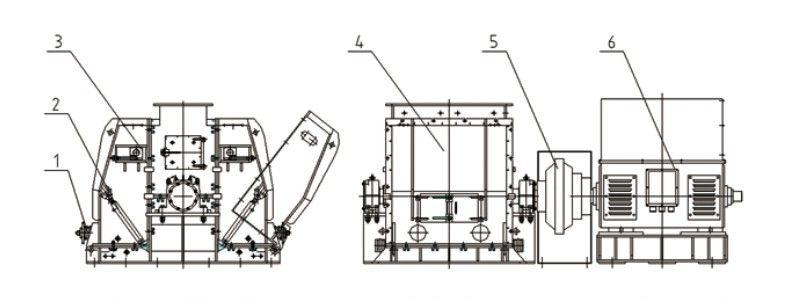 High Efficient Stone Impact Hammer Crushing/ Sand Maker