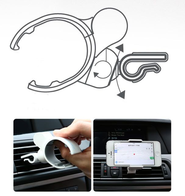 Air Vent Smartphone Car Mount Holder