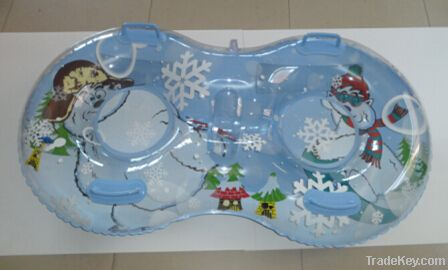 Heavy duty 2 person inflatable snow sled tube