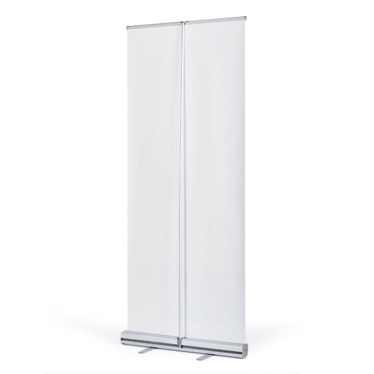 Easy Roll up Budget Banner Display Stand Aluminum Silver 85 X 200 Cm