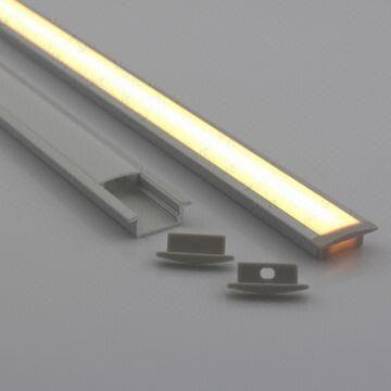 Aluminum led profile 12v/24v led bar 8mm slim cabinet lamp for led strip recessed installation ALP001