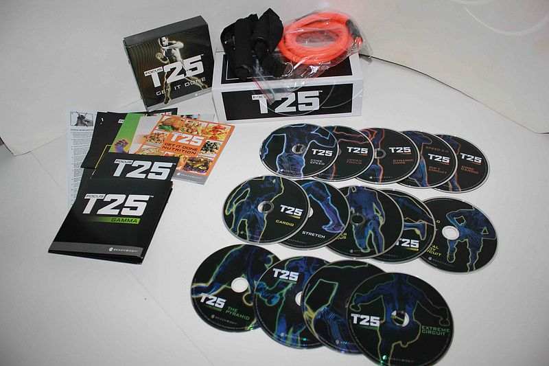 Hot Selling Foucs T25 workout fitness videos DVD Set with original package DHL free shipping