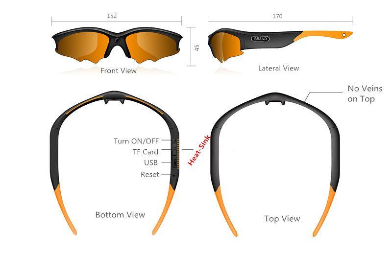 Full HD 1080P Mini dv dvr Camcorders sport Video Camera Sunglasses High Quality Modern eyewear H.264 1920x1080@30fps