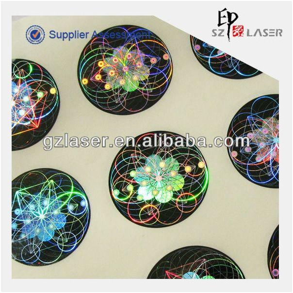 2014 popular high quality hologram brand sticker