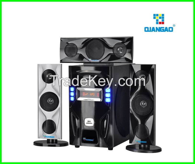 Smart cheap 3.1 home theater speaker system with USB/SD/Karaoke