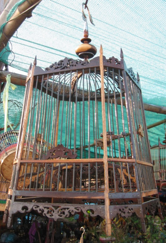 Bird Cage Best Seller Bird Cages Wholesale Wood Wooden High-End Handmade Bird Cage Home Decore