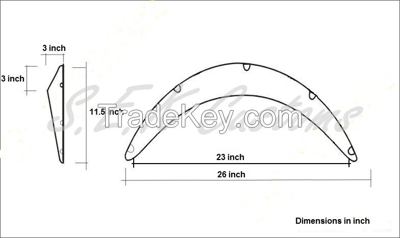 Universal fender flare from ABS plastic. 1 box-4pc