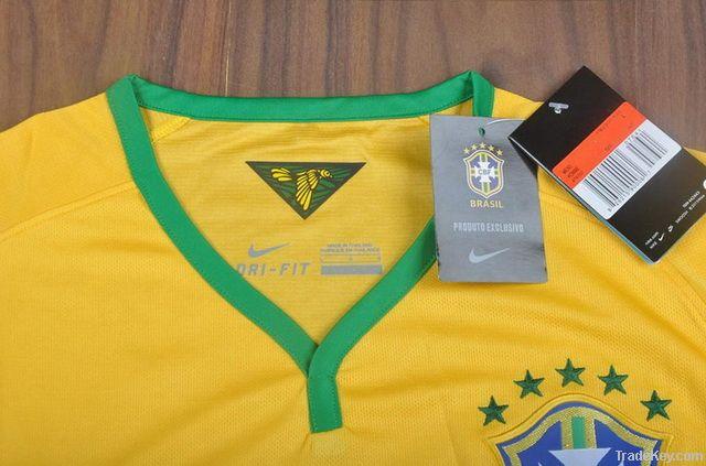 Thailand AAA Brazil 2013/14 World Cup Home Soccer Jerseys