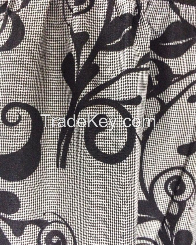 S16DR31- Lower Printed Shirt Collar Maxi Dress