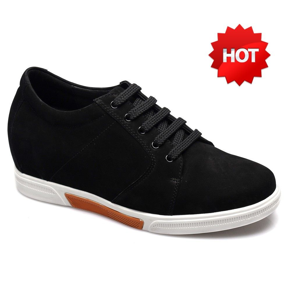 Chamaripa 2.95 inch Suede Leather Casual Shoes Black