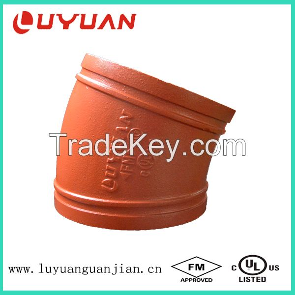 FM /UL/ CE Ductile Iron Elbow with Victaulic Standard