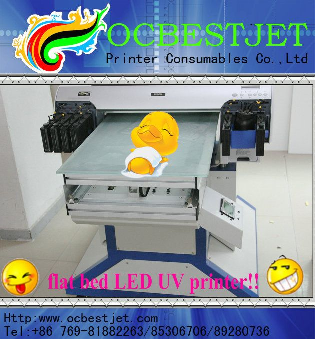Top selling!!! 4880 LED UV flat bed printer for Epson with printer head