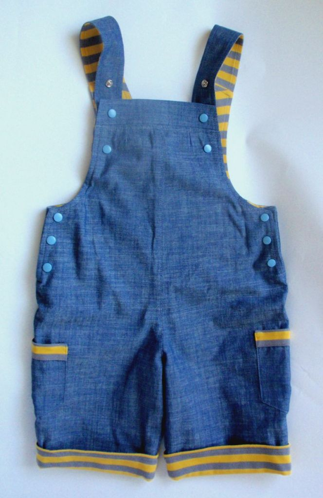 Organic cotton jeans overall shorts