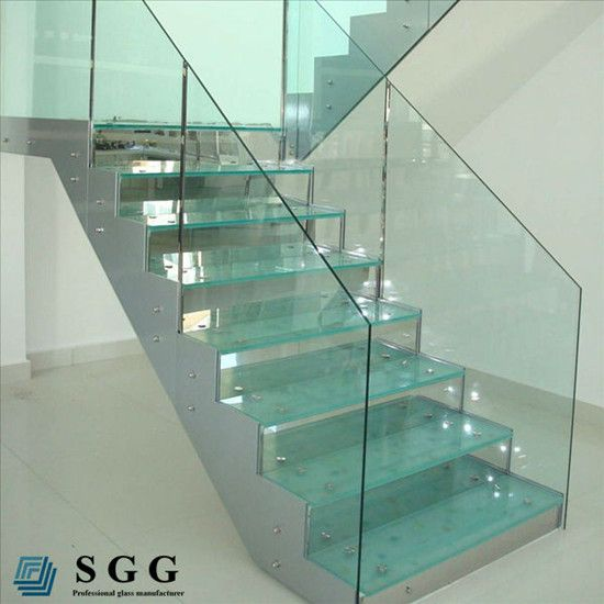 Good quality house stair balcony railings glass panels