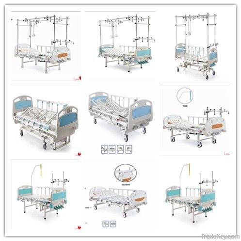 manual two crank hospital care bed