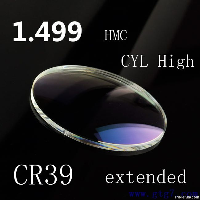 1.1.1stock lens 1.50 HMC Single Vision optical resin lenses high quail