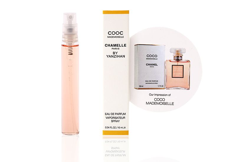 2014 New Designed Lady Mini Portable Glass Bottle Spray Tube Perfume With Color Box