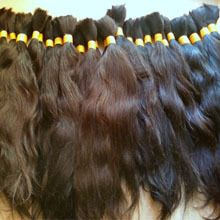 Hottest selling raw unprocessed natural virgin human hair in natural color
