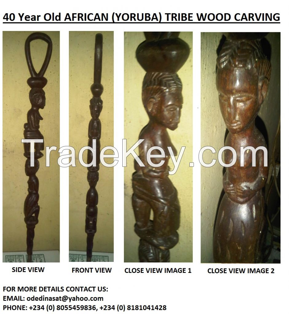 40 year plus old african wood carving