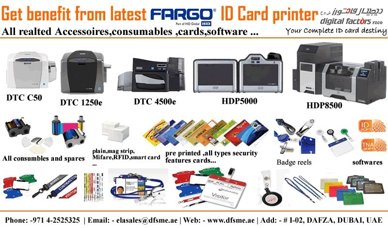 Fargo ID card Printers, Security Solution, HID Access Control Solution, Biometric Devices