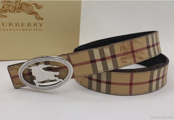 New style casual italian leather belt in metal square pin buckle /2014