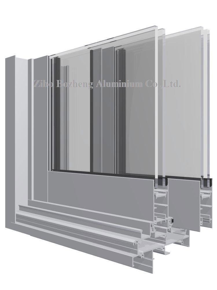 aluminium extrusion profile for window and door