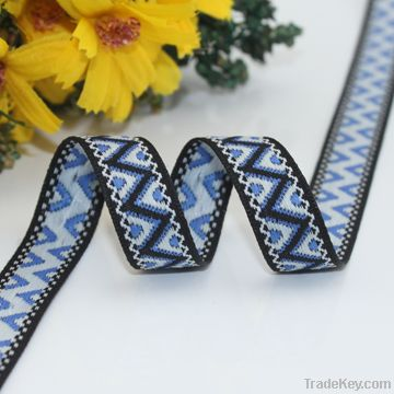 The most popular polyester jacquard ribbon with logo