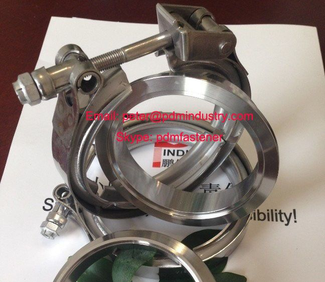 stainless steel quick release V band clamps