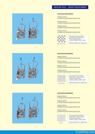 lever arch mechanism, file clip