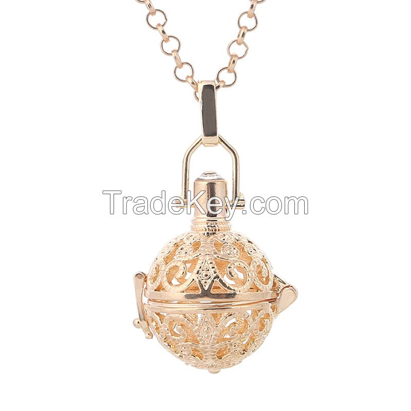 Fashion Jewelry 2016 Gold Chime Ball Angel Caller Cage Pendant Necklace