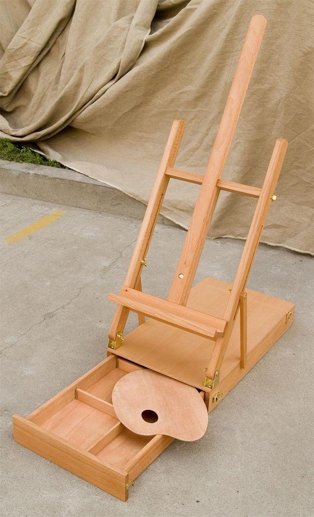wooden easel, easel